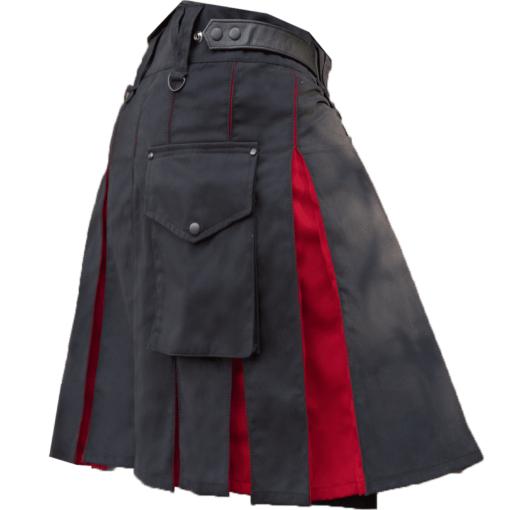 KJ Black Red Hybrid Kilt