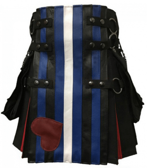 Leather Pride Flag Kilt