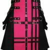 Pink Apron Black Kilt